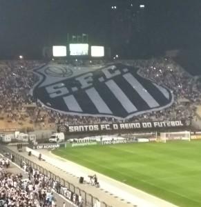 Imagem registrada pela torcida do Santos