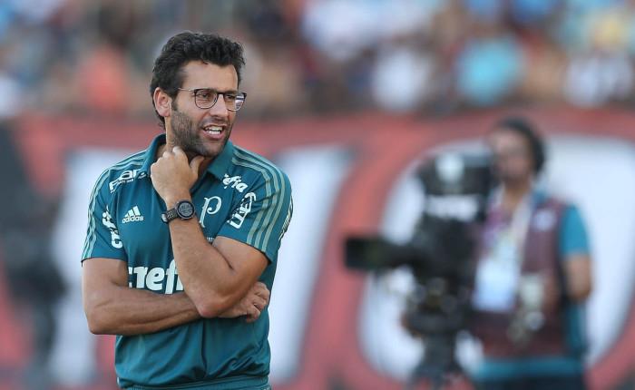 Alberto Vantin em seu jogo de estreia como comandante do Verdão